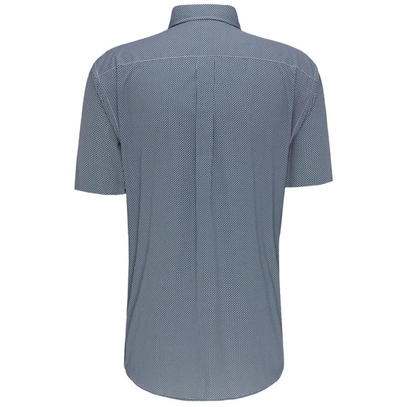 Fynch Hatton Mens Blue Summer Print Shirt main image