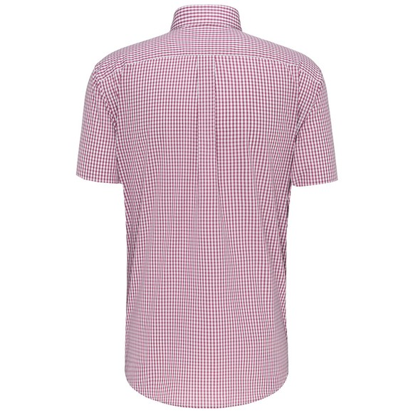 Fynch Hatton Mens Red S/S Summer Check Shirt