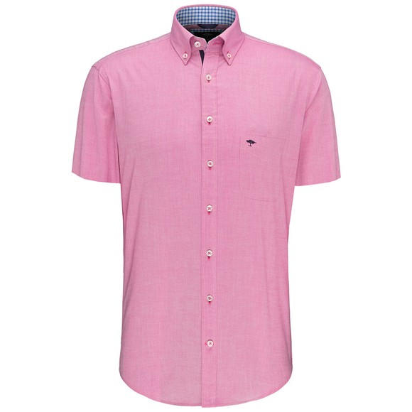 Fynch Hatton Mens Red S/S Soft Oxford Shirt main image