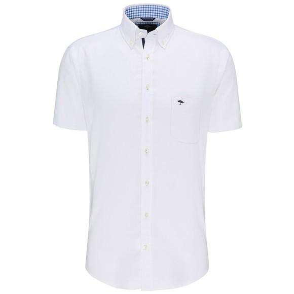 Fynch Hatton Mens White S/S Soft Oxford Shirt