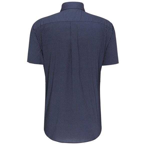Fynch Hatton Mens Blue S/S Maritime Story Shirt main image