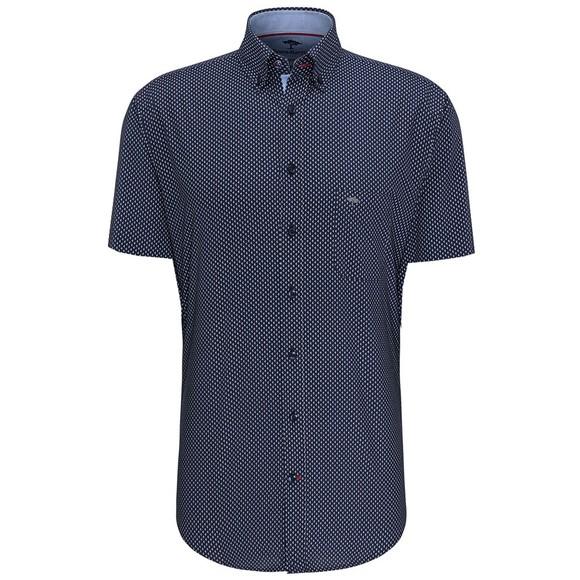 Fynch Hatton Mens Blue S/S Maritime Story Shirt