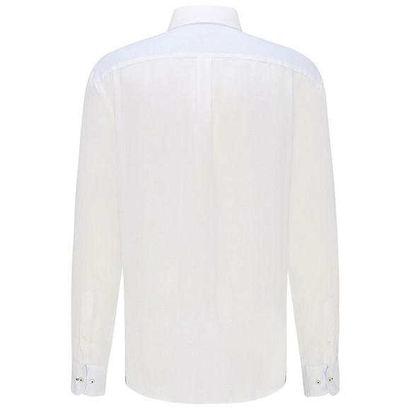 Fynch Hatton Mens White Linen Shirt
