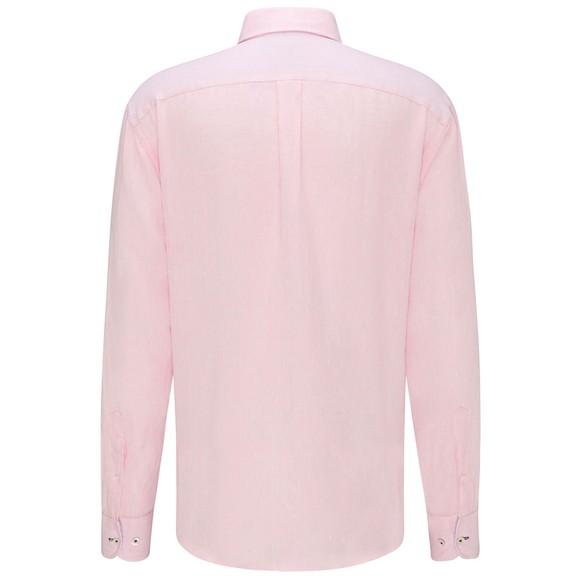 Fynch Hatton Mens Pink Linen Shirt