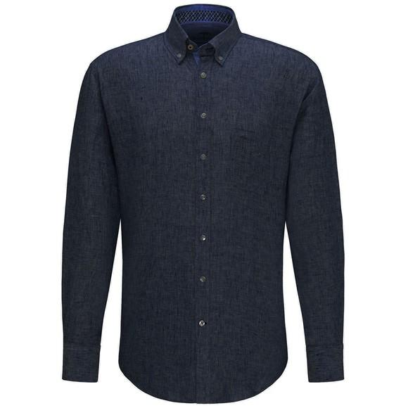 Fynch Hatton Mens Blue Linen Shirt
