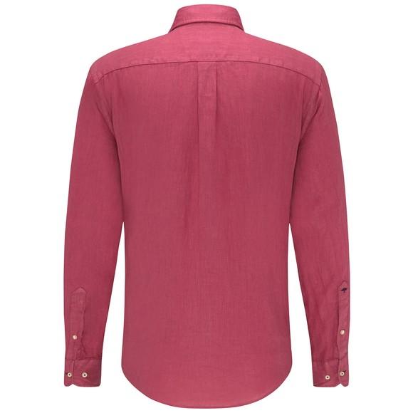Fynch Hatton Mens Purple Garment Dyed Linen Shirt