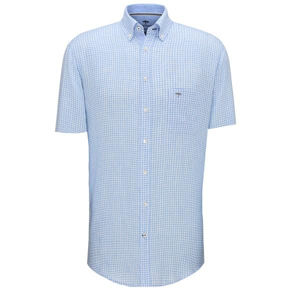Fynch Hatton Mens Blue Classic Linen Shirt