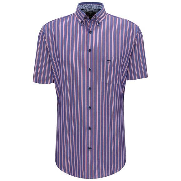 Fynch Hatton Mens Blue S/S Stripe Shirt
