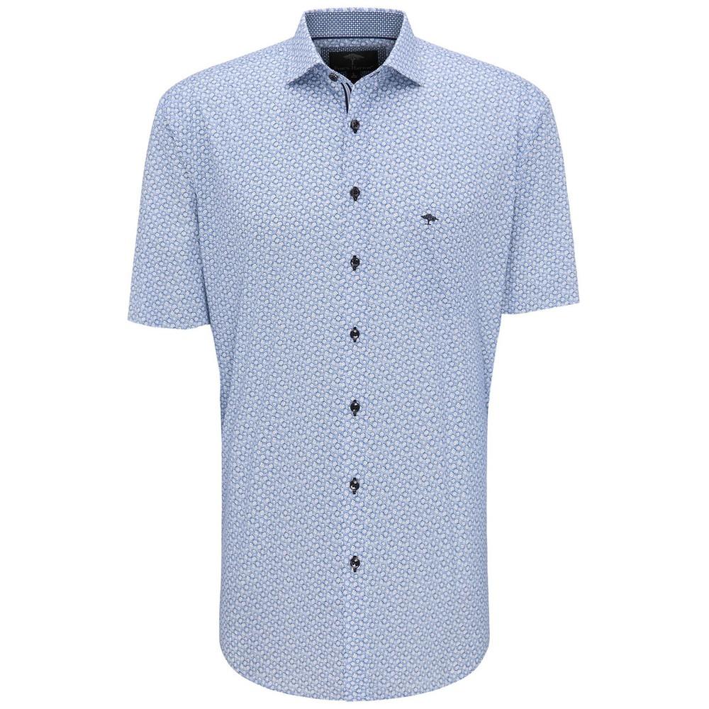 S/S Blue Graphic Print Shirt main image