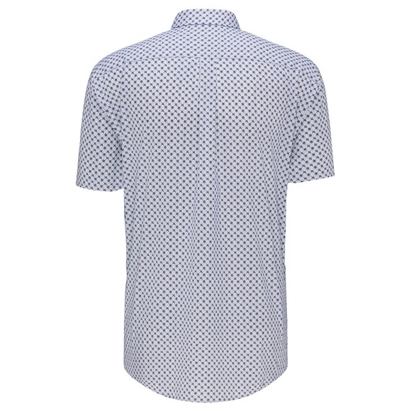 Fynch Hatton Mens Blue S/S Blue Graphic Print Shirt main image