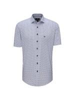 S/S Blue Graphic Print Shirt