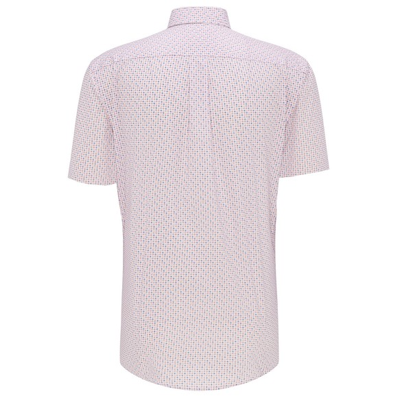 Fynch Hatton Mens Pink S/S Minemal Flowers