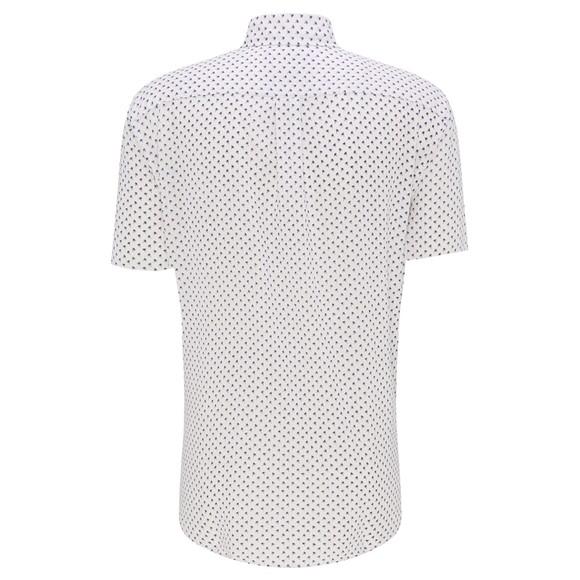 Fynch Hatton Mens White S/S Palm Print Linen Shirt main image