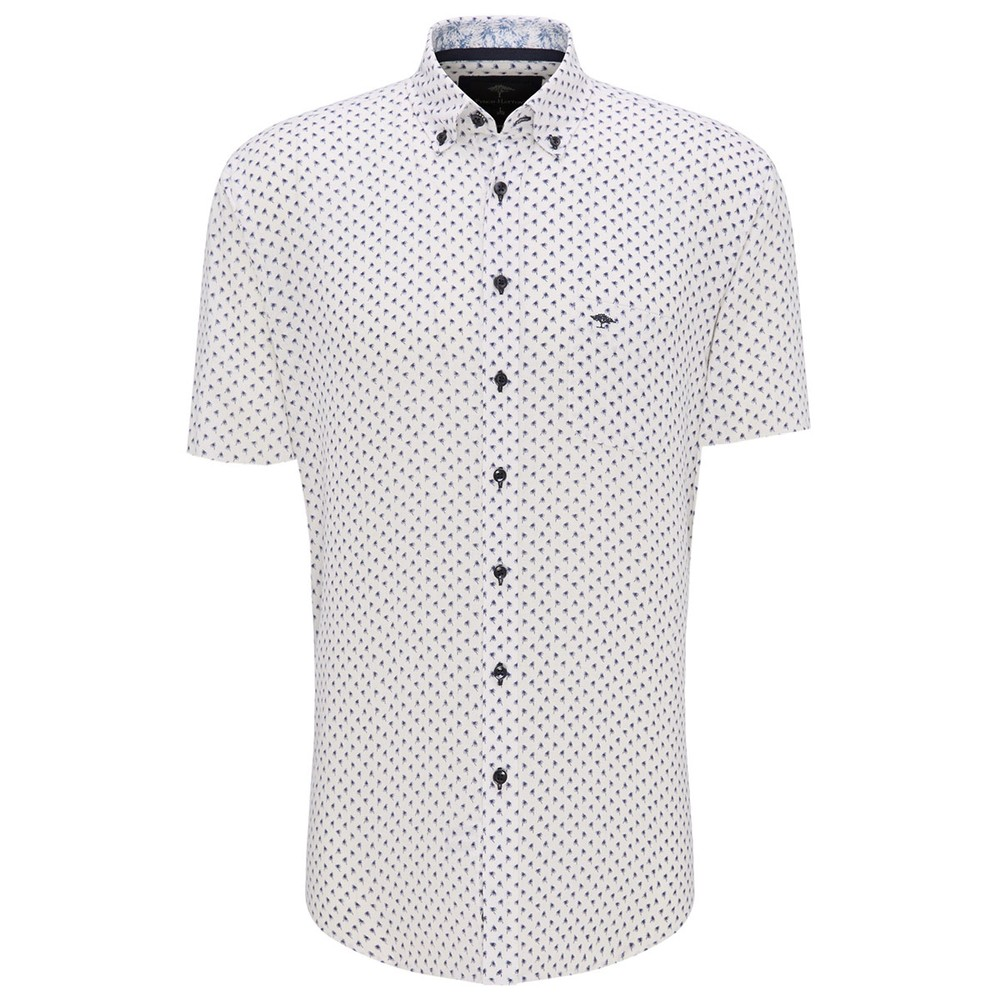 S/S Palm Print Linen Shirt main image