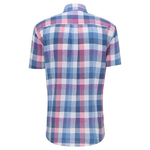 Fynch Hatton Mens Blue S/S Soft Linen Shirt main image