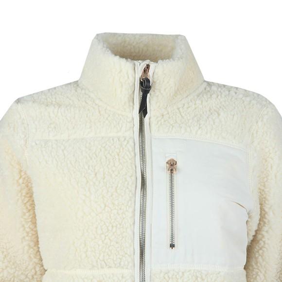 Superdry Womens Beige Storm Panel Borg Zip Through Fleece