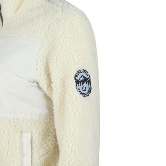 Superdry Womens Beige Storm Panel Borg Zip Through Fleece main image