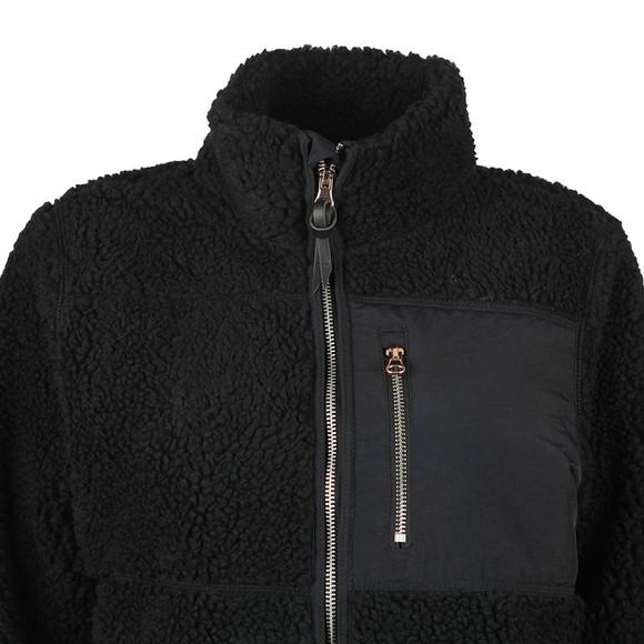 Superdry Womens Black Storm Panel Borg Zip Through Fleece