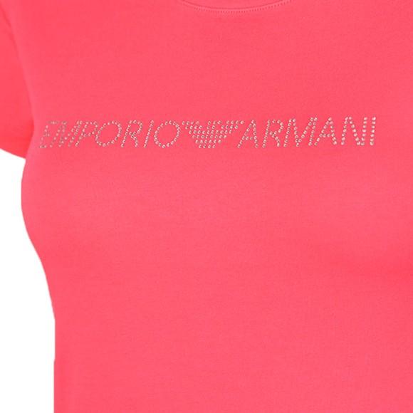 Emporio Armani Womens Pink Logo T-Shirt