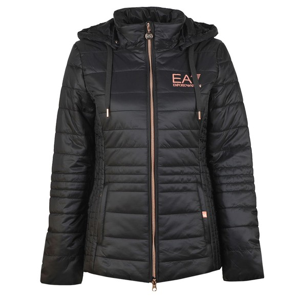 EA7 Emporio Armani Womens Black Logo Jacket