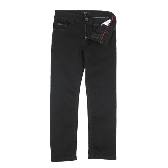BOSS Boys Black Logo Jean main image