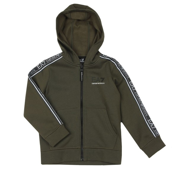 EA7 Emporio Armani Boys Green Tape Full Zip Hoody