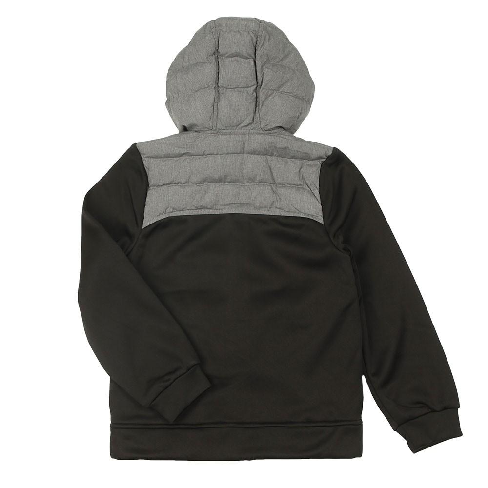 J25G76 Mixed Fabric Hooded Jacket main image