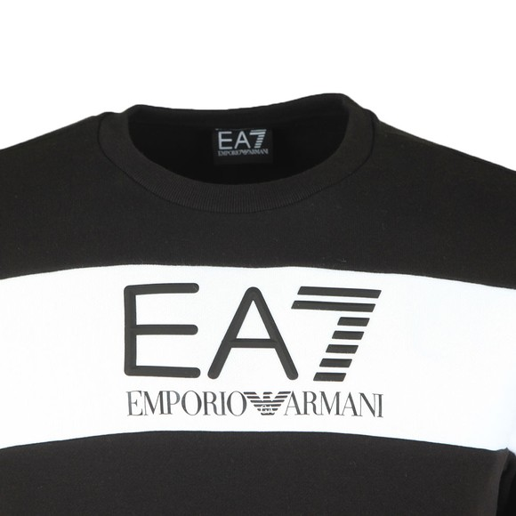 EA7 Emporio Armani Mens Black Big Logo Sweatshirt