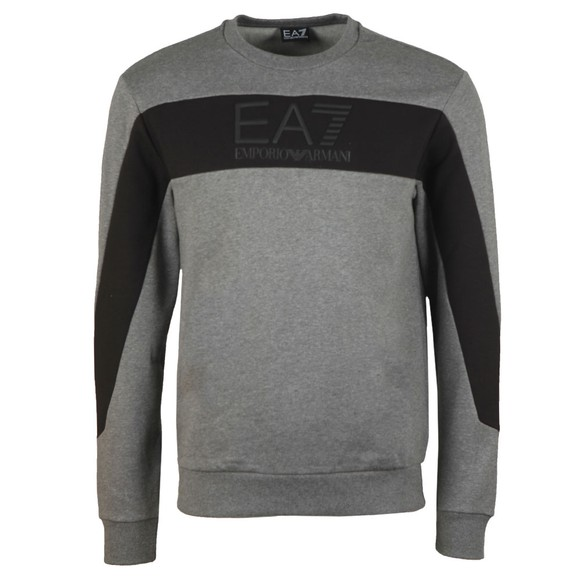 EA7 Emporio Armani Mens Grey Block Sweatshirt