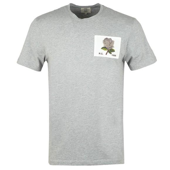 Kent & Curwen Mens Grey Rose 1926 Icon T Shirt