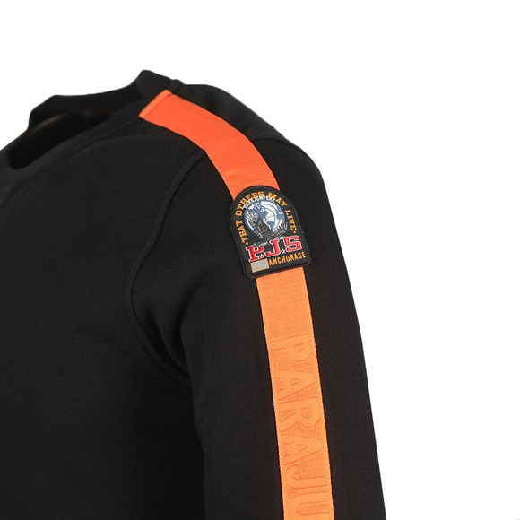 Parajumpers Mens Black Armstrong Taped Sweatshirt