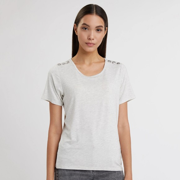 Holland Cooper Womens Grey Relax Fit Crew T Shirt main image