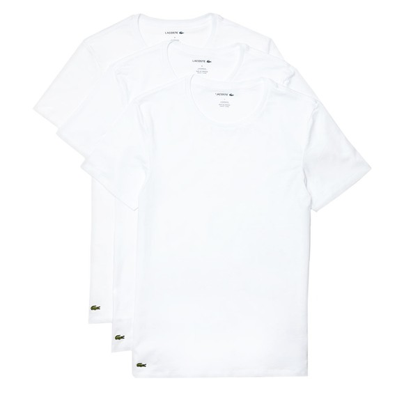 Lacoste Mens White TH3321 3 Pack T-Shirts main image