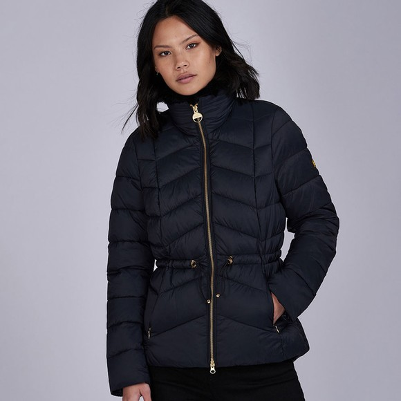 Barbour International Womens Black Halfback Quilted Jacket