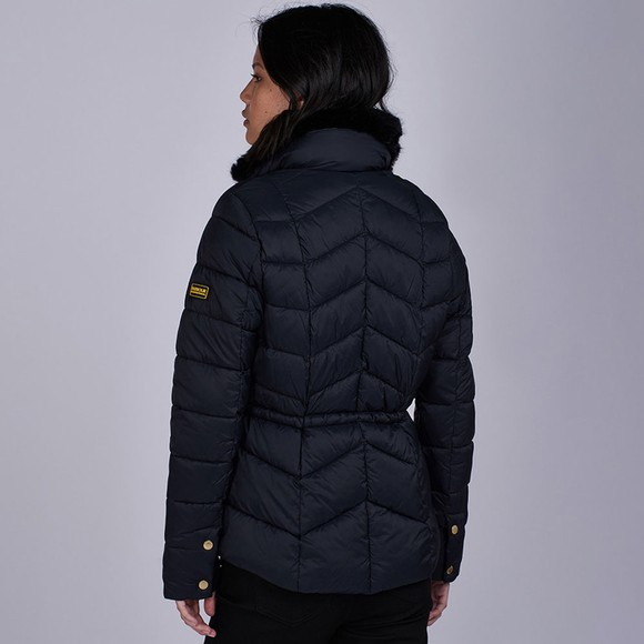 Barbour International Womens Black Halfback Quilted Jacket main image