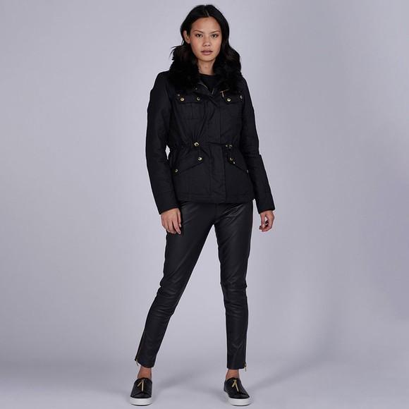 Barbour International Womens Black Brno Wax Jacket