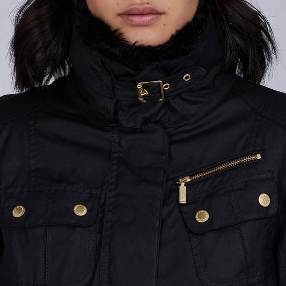Barbour International Womens Black Brno Wax Jacket main image