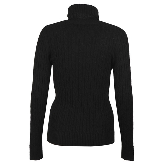 Superdry Womens Black Croyde Cable Roll Neck Jumper main image