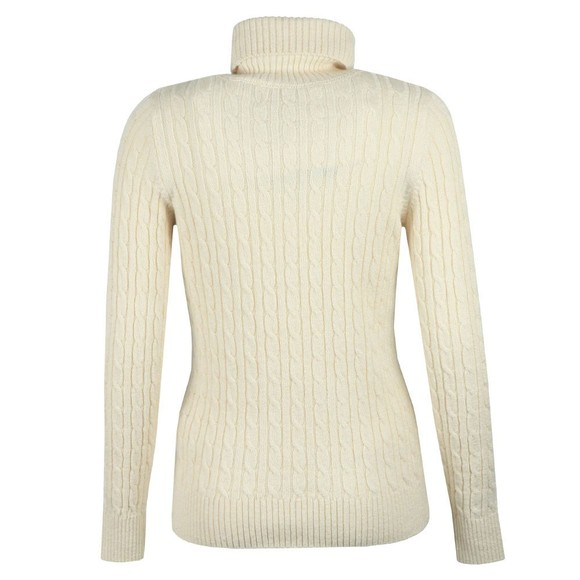 Superdry Womens Off-White Croyde Cable Roll Neck Jumper main image