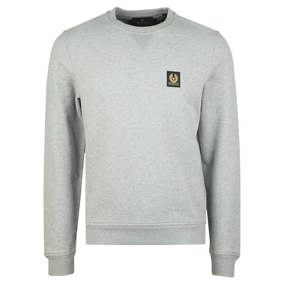 Belstaff Mens Grey Chest Logo Sweatshirt