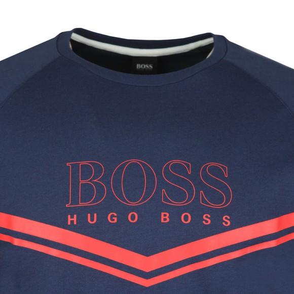 BOSS Bodywear Mens Blue Stripe Detail Crew Sweatshirt