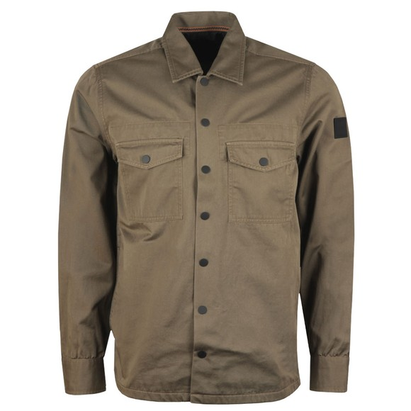 BOSS Mens Brown Casual Lovel Overshirt