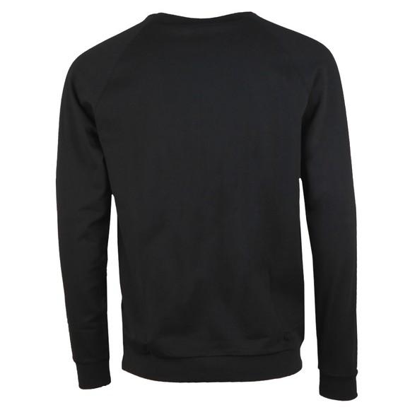 BOSS Bodywear Mens Black Stripe Detail Crew Sweatshirt main image