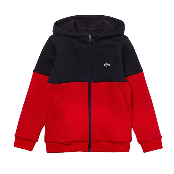Lacoste Boys Blue SJ1161 Zip Hoody