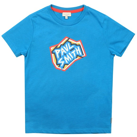 Paul Smith Junior Boys Blue Bertin Logo T Shirt