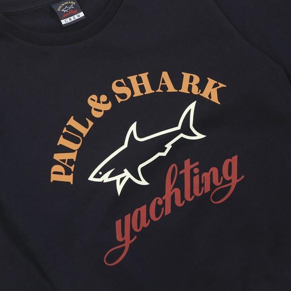 Paul & Shark Cadets Boys Blue Crew Large Logo Sweatshirt
