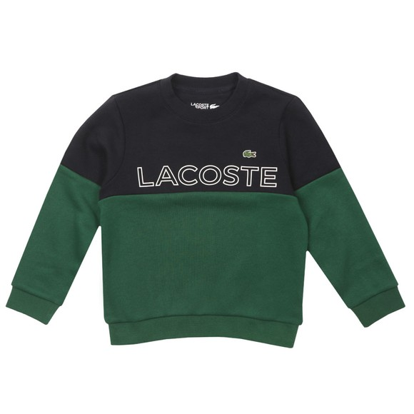 Lacoste Boys Blue Logo Panel Sweatshirt