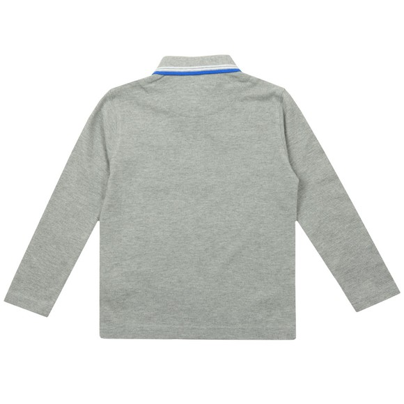 BOSS Boys Grey Twin Tipped Long Sleeve Polo Shirt main image