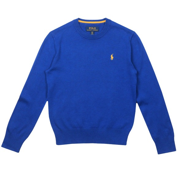 Polo Ralph Lauren Boys Blue Crew Neck Jumper