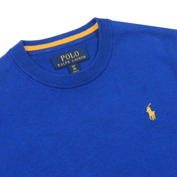 Polo Ralph Lauren Boys Blue Crew Neck Jumper main image